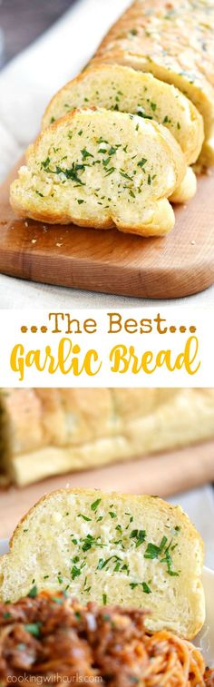 Yep I said it, this is The Best Garlic Bread recipe! Soft and garlicky on the inside, crispy on the outside | cookingwithcurls.com