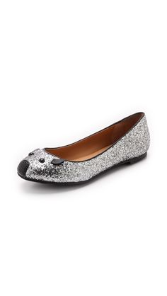 Marc by Marc Jacobs Space Glitter Mouse Ballerina Flats