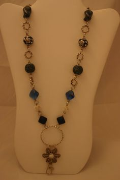 Lanyard necklace  The Diana royal blue by ZannaTigerlilyCrafts