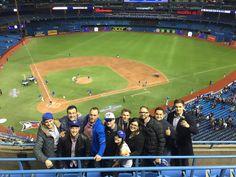 :R Team at the Toronto Blue Jays game.