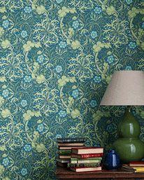 Morris Seaweed Cobalt/Thyme från William Morris & Co