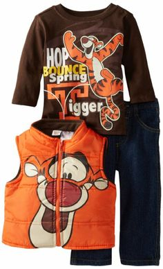 Disney Baby Boys' 3 Piece Tigger Vest and Pant Set Baby Boy Doll Clothes, Disney Baby Clothes, Baby Disney, Little Boy Outfits, Cute Outfits For Kids, Baby Boy Outfits, Winter Baby Boy, Newborn Halloween, Gender Neutral Baby Clothes