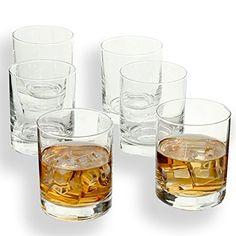 Whiskey Glasses 11 Oz Rock Style Old Fashioned Unbreakable Short Glass Set Of 6 Liquor Glasses, Whiskey Glasses, Short Glass, Cocktail Glassware, Good Whiskey, Old Fashioned Cocktail, Rock Style, Camping