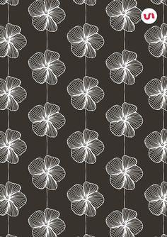 Hand drawn floral print pattern