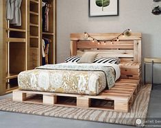 Pallet Bed Queen Size Includes Headboard and Platform | Etsy