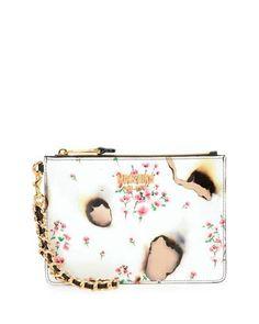 MOSCHINO Burned Floral-Print Clutch Bag, Multicolor. #moschino #bags #shoulder bags #clutch #hand bags #