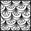 Zentangle pattern: Cayke
