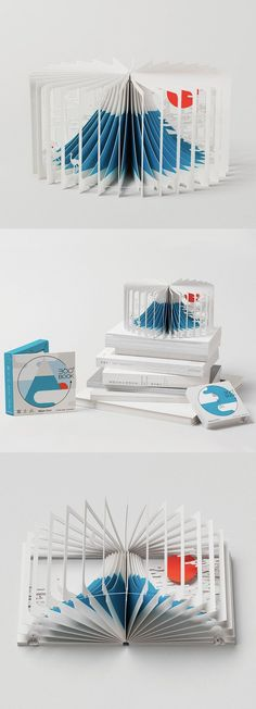 Yusuke Oono Drawing on both art and architecture, the award-winning book allows the reader to get a panoramic view of Mt. Fuji, illustrated by Yusuke Oono. Kirigami, Up Book, Book Art, Libros Pop-up, Tunnel Book, Material Didático, Buch Design, Paper Engineering, Paper Book