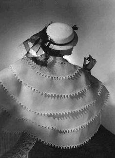 A Lanvin cape photographed by Horst P. Horst. for Vogue, April 1935.