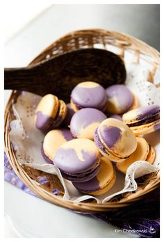 Choco-Caramel Passion Fruit Jelly Macarons (recipe linked below) Recipe inspired by Pierre Herme(chef)