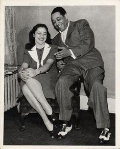 Evie with Duke Ellington. Duke Ellington Collection, Archives Center, National Museum of American History.