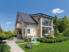 Modern eco homes are not only built with environmentally friendly materials that do not harm the environment and health of people, but designed to save up to energy for heating and cooling, using alternative energy sources, actively and passively absorbing and transferring energy for creating comfortable modern lifestyle
