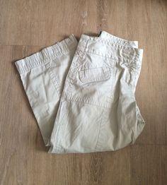 Ann Taylor LOFT Marisa Khaki Capri Pants Size 4 100% Cotton Inseam 21 #AnnTaylorLOFT #CaprisCropped