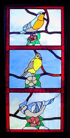 Bird Stained Glass | bird stained glass window #Bird #Stained #Glass  #StainedGlass