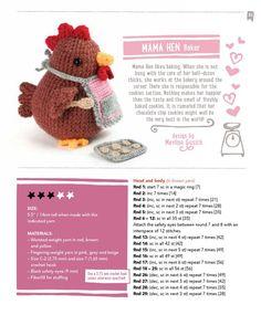 Amigurumi Animals at Work Crochet Animal Amigurumi, Crochet Gratis, Crochet Birds, Easter Crochet, Knitted Animals, Knit Or Crochet, Amigurumi Patterns, Crochet Baby, Free Crochet