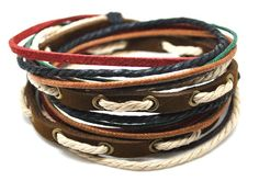 Mens Womens  Leather Bracelet Wristband cuff bracelet friendship bracelets  A7