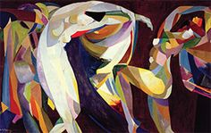 Dances, 1914/15 (oil on canvas) by Arthur Bowen Davies