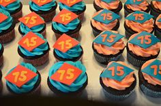 Cupcakes for 75th birthday