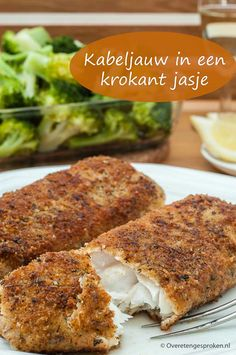 Kabeljau in einer knusprigen Jacke - Vis - Burlap Wreath Spicy Recipes, Easy Healthy Recipes, Fish Recipes, Seafood Recipes, Cooking Recipes, Healthy Diners, Good Food, Yummy Food, How To Cook Fish