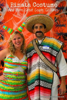 How to Make a Piñata Costume - More Great Couple Costume Ideas Included