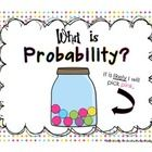 This is a set of 6 colorful probability posters. $