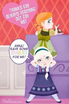 Elsa & Anna are so adorable! (Disney Frozen) you anna Elsa noy Hans Frozen, Frozen Movie, Frozen Party, Disney Frozen, Frozen Stuff, Frozen Funny, Elsa Frozen, Disney Girls, Disney Love