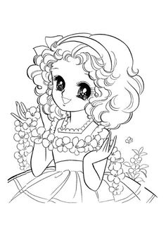 shojo coloring bbok I Vintage Coloring Books, Coloring Book Art, Colouring Pages, Coloring Sheets, Chibi, Printable Adult Coloring Pages, Princess Coloring, Black And White Drawing, Copics