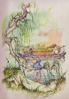 by Libico Maraja Weeping Willow, Sorting Hat, Fairytale Art, Pinocchio, Japanese Art, Fairy Tales, Illustration Art, Nature, Crafts