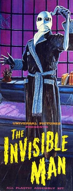 The Invisible Man model kit. – Disco Bob The Invisible Man model kit. The Invisible Man model kit. Horror Monsters, Scary Monsters, Famous Monsters, Sci Fi Horror, Horror Films, Horror Art, Classic Movie Posters, Classic Horror Movies, Beetlejuice