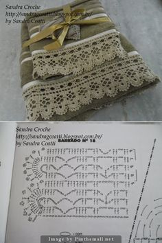 Crochet Lace Edging for Handtowel ~~ http://sandragcoatti.blogspot.com.br