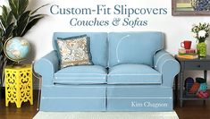 How to make a couch cover for custom decor - Custom-Fit Slipcovers: Couches & Sofas