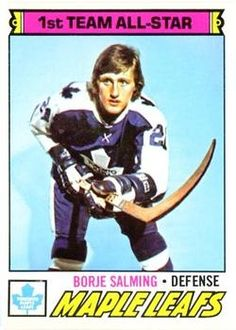 1977-78 O-Pee-Chee #140 Borje Salming Front Maple Leafs Hockey, Tim Hortons, Nhl Players, Nfl Fans, Hockey Cards, National Hockey League, Toronto Maple Leafs, Boston Bruins, Trading Cards