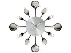 Present Time - Wall clock Silverware Utinsels