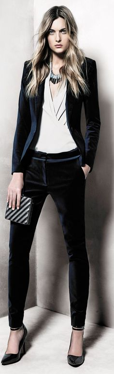 Velvet suiting: Mango 2013. There's just something about velvet that does it for me every time.