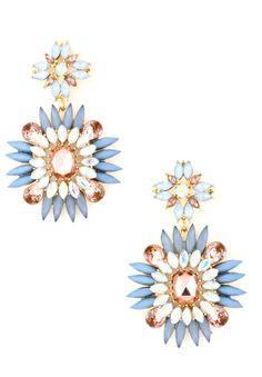 Sharp Stone Flower Earrings $14.00