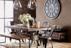 Industrial Look Furniture With An Unique Design For The Dining .