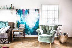 Een kunstenaarshuis waar de creativiteit en verf vanaf spat! - Roomed