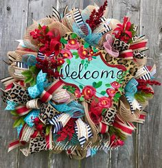 A personal favorite from my Etsy shop https://www.etsy.com/listing/501853443/welcome-leopard-wreath-welcome-wreath