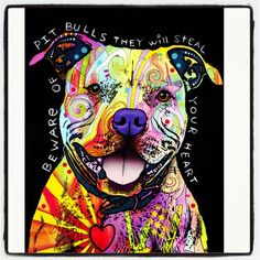 [Dean Russo pitbull art]