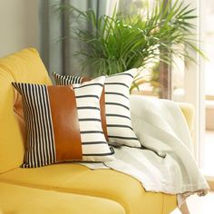 Beautiful Sellner Decorative Throw Pillow Cover (Set of by Union Rustic Home Decor Furniture from top store Leather Throw Pillows, Leather Pillow, Decorative Pillow Covers, Throw Pillow Covers, Pillow Covers Online, Deck Chairs, Room Chairs, Geometric Pillow, Cushion Pads