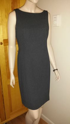 Casual Corner lined charcoal grey pencil dress size 10