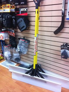 Greatest rink shovel ever! The one they use at Scotiabank Place. Two sizes available..makes backyard rink clean up quick and easy! www.lightningblade.com