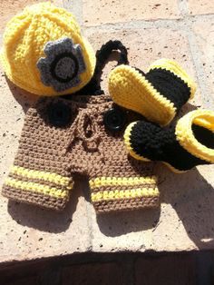 Firefighter Fireman Baby Photo Prop Newborn by BBeautifulDesign..... omg! Adorable.