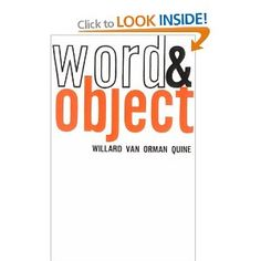 Word & Object - Willard van Orman Quine
