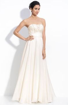 Theia Beaded Silk Organza Strapless Gown at Nordstrom //  a bit too expensive but maybe it'll go on sale? $1095