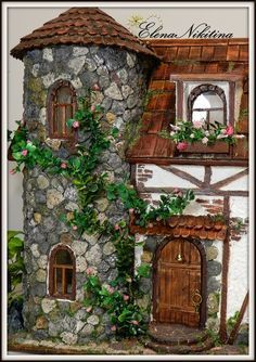 Diy Fairy Gardens - Welcome my homepage Clay Houses, Stone Houses, Miniature Houses, Miniature Dolls, Clay Fairy House, Fairy Garden Houses, Fairy Gardens, Doll House Crafts, Clay Fairies