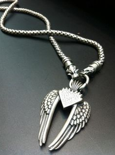 Wings of URIEL - Love is my destiny, you are my fate. Necklace ID F300/301