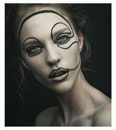 We Are Vandals by Mathieu Vladimir Alliard for Vandals Magazine December 2013 Nicole Pollard Makeup Inspo, Beauty Makeup, Eye Makeup, Maquillage Halloween, Halloween Makeup, Crazy Makeup, Makeup Looks, Weird Makeup, Make Up Art