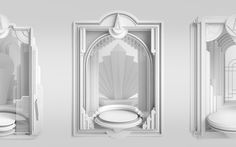 Furnished in an elegant art deco style, a collection of frames for Armistice… Dream Shower, Store Window Displays, Motion Design, Graphic Design Illustration, Art Deco Fashion, 3d Design, Art Direction, Contemporary Art, Inspiration