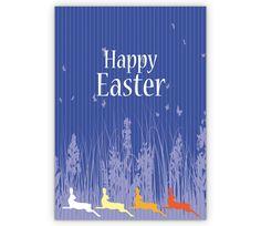 Edle Osterkarte mit bunten Osterhasen: Happy Easter - http://www.1agrusskarten.de/shop/edle-osterkarte-mit-bunten-osterhasen-happy-easter/    00021_0_2213, Grußkarte, Humor, Illustration, Kind, Klappkarte, lustig, Ostereier, Osterfest, Osterhase, Osterkarten, Ostertag00021_0_2213, Grußkarte, Humor, Illustration, Kind, Klappkarte, lustig, Ostereier, Osterfest, Osterhase, Osterkarten, Ostertag